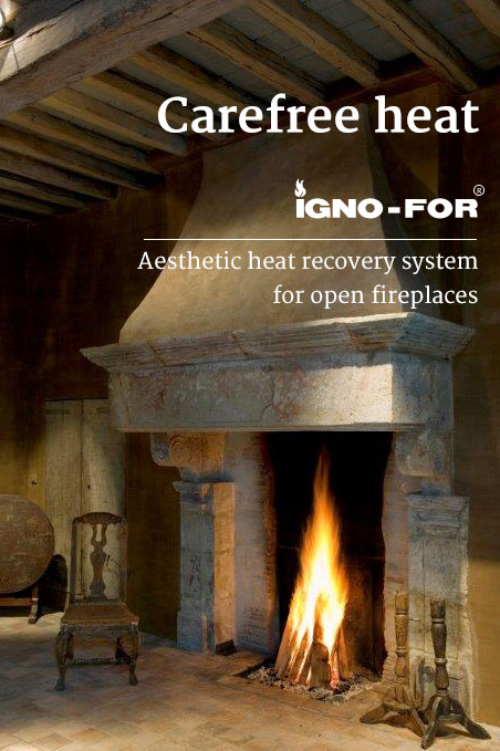 Igno For Heat Recovery System For Open Fireplaces